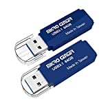 Micro Center Pro 2 Pack 64GB USB 3.1 Gen1 Flash Drive Faster USB Stick External Data Storage Thumb Drive (64GB 2-Pack, Blue)