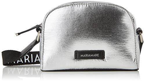 Maria Mare MAKANI Women's Messenger Bag, Silver (Nylon Metalico Plata), 7x16x21 Centimeters (W x H x L)