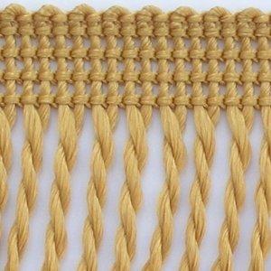 8cm Fransen gedreht 25m Rolle Polypropylen Möbelfransen Stengelfransen (0,76_Eur/m) (honig-gold)
