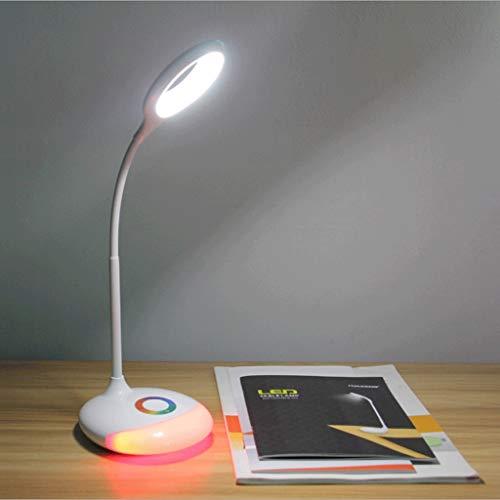 Lampe de protection contre les yeux à LED, lecture de loisir Lumière de nuit colorée flexible, avec interrupteur Économie d'énergie USB Petite lampe (rouge)