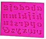 Molde de silicona letras del alfabeto letras mayúsculas minúsculas moldes de silicona