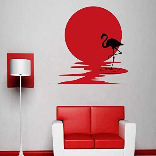 Flamingo Wandaufkleber, Mädchen Wohnzimmer Schlafzimmer Dekoration Vinyl Aufkleber...