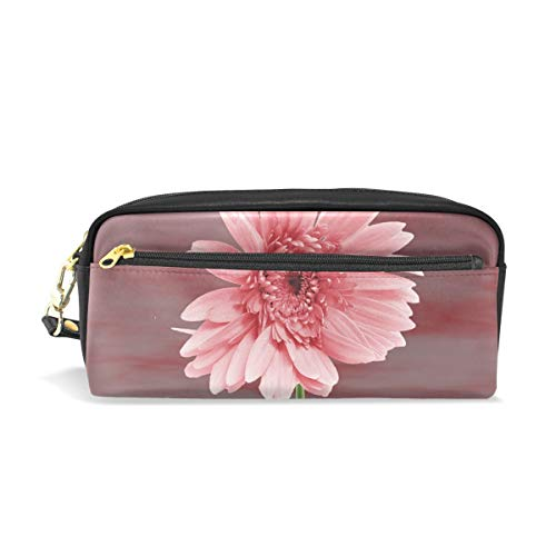 Pencil Case Stylish Print Nature Flower Plant Summer Vivid Flower Rasada Art Pattern Large Capacity Pen Bag Makeup Pouch Durable Students Stationery Two Pockets with Double Zipper