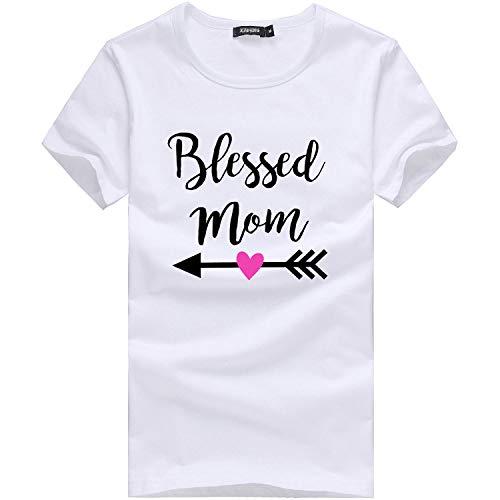 Zegeey Damen Oberteile T-Shirt Kurzarm Aus Festem Spitzen-Patchwork AushöHlen Bluse Top Sommer Shirt(Y1-Weiß,48 DE/4XL CN)