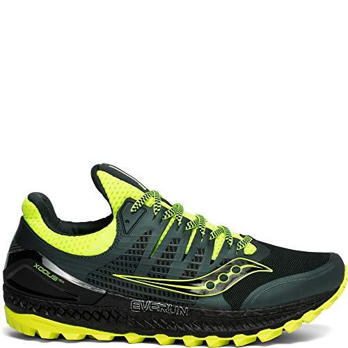 Saucony Xodus ISO 3, Zapatillas de Trail Running para Hombre, Verde Amarillo, 44 EU