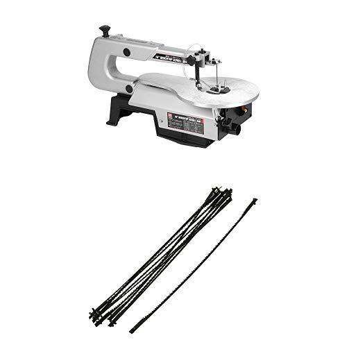 【セット買い】SK11 卓上糸鋸盤 フトコロ 400mm 電動糸鋸刃 曲線切用 10本入
