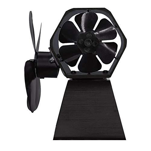 Verloco ventilator voor oven, 4,6 bladen, warmte, pan, ventilator voor hout/brander, brander/open haard, twee kanten van de wind, voor meer warmte