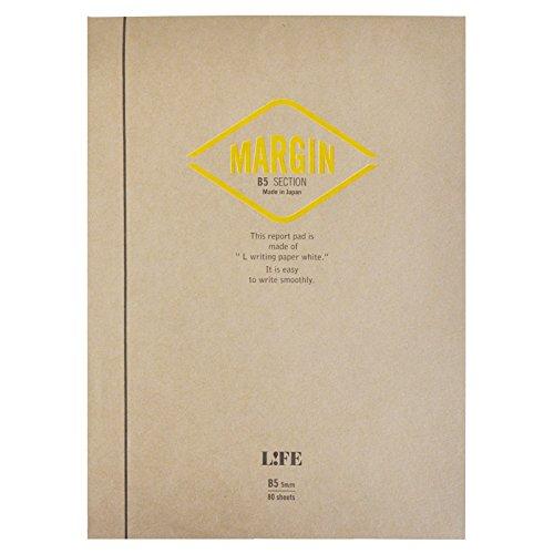 ライフ レポート用紙 マージン B5 方眼 R760
