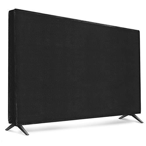 "kwmobile Funda para Monitor 32"" TV - Cubierta Protectora Textil para Pantalla de TV en Negro"