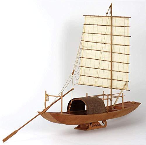 XIUYU Wohnzimmerdekorationen Wasserfahrzeug Modellbau Kits Schiffs-Modell-Boot Kit 1/20 Yangtze River Basin Fischerboot aus Holz Modellbausätze
