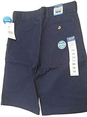 French Toast Boys Straight Fit School Shorts Adjustable Waist (Navy 7)