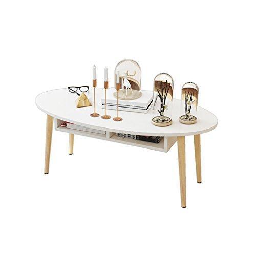 QARYYQ salontafel, creatieve ovale theetafel, massief hout multifunctionele slaapkamertafel klaptafel