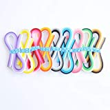 9 Pack 900 Strips Quilling Paper Kit, 5mm x 39cm, 36 Shades of Colors, Quilling Paper, Arts and Craft, Card Design Making, Paper Flower Making