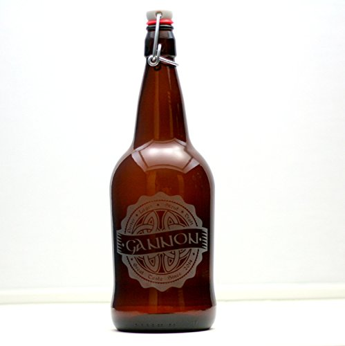 Personalized Engraved Fathers Gift Growler with Celtic Knot Art Base | Custom Beer Gift