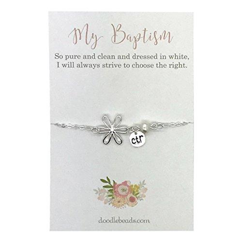 LDS baptism gift - CTR Flower Bracelet