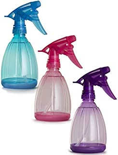 Empty Spray Bottles - 12 Oz Refillable Sprayer - pack of 3 - for Essential Oil, Water, Kitchen, Bath, Beauty, Hair, and Cleaning - Durable Trigger Sprayer with Mist & Stream Modes