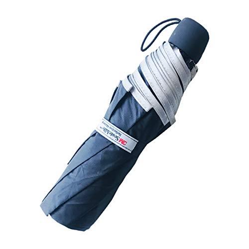 Salzmann 3M Paraguas Plegable - Paraguas Compacto y Reflectante con protección UV - Hecho de 3M Scotchlite