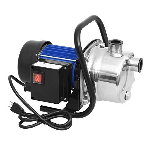 Lantusi 1.6HP Portable Stainless Steel Lawn Water Pump, High Capacity Home Garden Sprinkling Irrigation Water Supply Pump, Booster Pump Shallow Well Pump-1200W