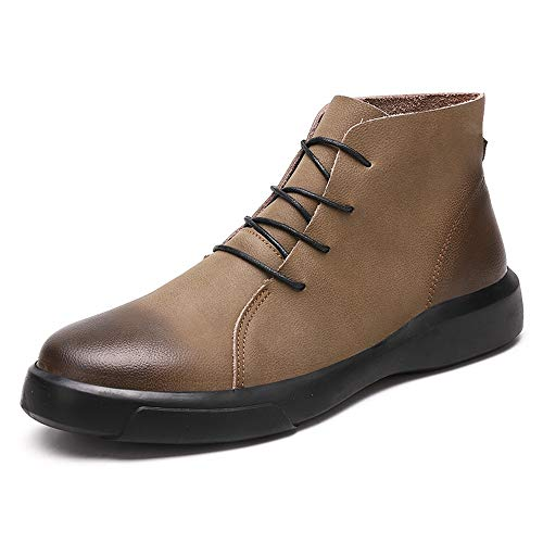 Datouya Men's Fashion Ankle Work Boot Casual Retro Color Brush Winter Faux Fleece Inside High Top Boot(Conventional Optional) Men' s Fashion Shoes Provide The Best Comfort for Your All-Weather Life