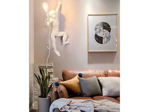 Applique da parete scimmia bianco attacco E27 lampada muro creativo decorativo design moderno per camera salotto