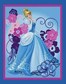 """Cinderella Cotton Fabric Panel - Officially Licensed (Great for Quilting, Sewing, Craft Projects, Wall Hangings, and More) 35"""" X 44"""""""