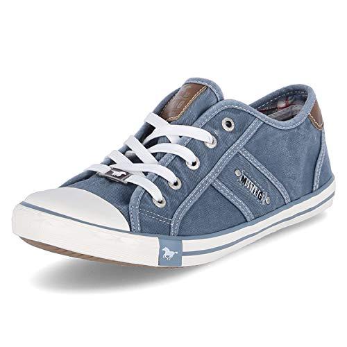 MUSTANG Damen 1099-302 Sneaker, Blau (Himmelblau 807), 37 EU