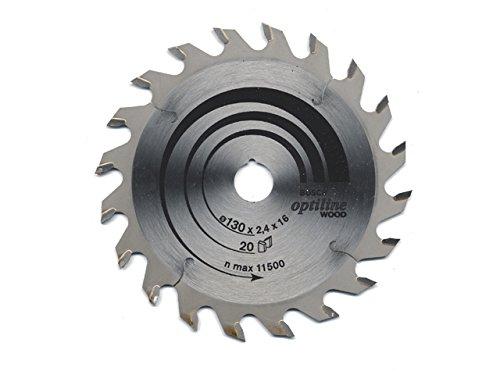 Bosch 2 608 640 582 - Hoja de sierra circular Optiline Wood - 130 x 20/16 x 2,4 mm, 20 (pack de 1)