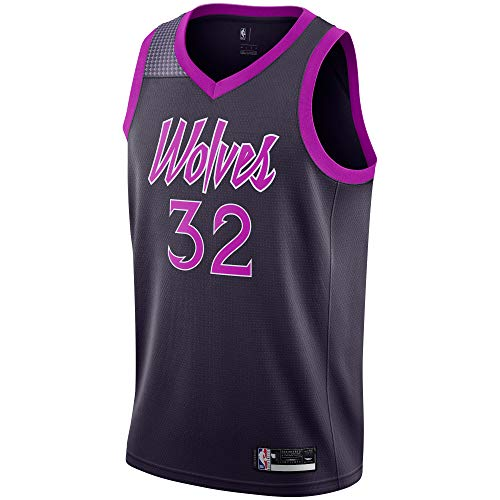 Karl-Anthony Towns Minnesota Timberwolves #32 Official Youth 8-20 Swingman Jersey (Small 8, Karl-Anthony Towns Minnesota Timerwolves Purple City Edition)
