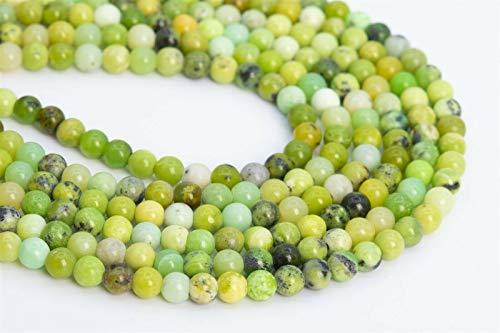 "7.5"" 4-5MM Genuine Natural nvKE Chrysoprase/Australian Jade Beads Grade AAA Round Beads"