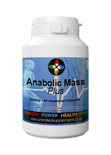 Anabolic Mass Plus 500 mg - 90 Capsules Promotes Extreme Muscle Growth/|Gains and Development Pure Product. Ensuring Anabolic State. Best Seller a Must Have.Suitable for Vegans