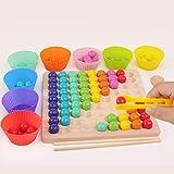 AUTERCO New Rainbow Board Game, Color Wooden...
