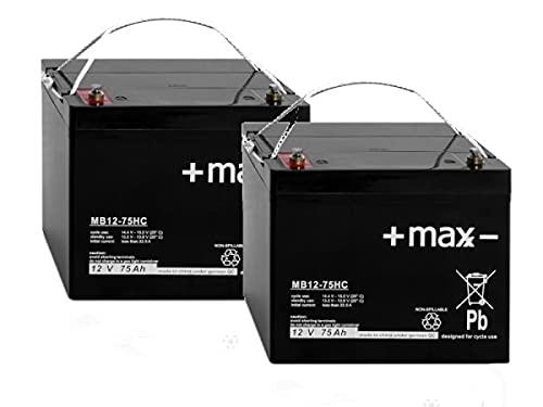 24V Akkusatz kompatibel E-DH1016BF Deichselstapler 2X 12V 75Ah AGM Blei Batterie