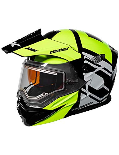 Castle X EXO-CX950 Hex Modular Electric Snowmobile Helmet in Hi-vis/Black Size 2XL