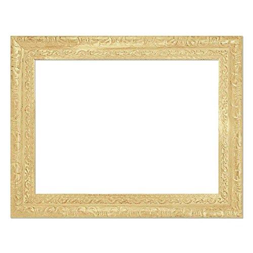 Cadre Baroque BA1086 crème, comme Pièces avec mitre, Cadre vide, cadre complet ou Miroir en plastique