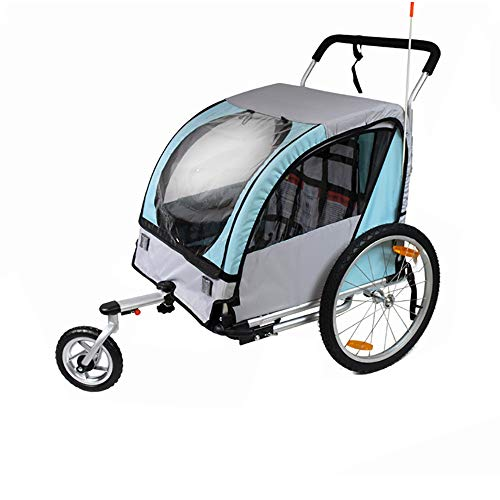 Lowest Prices! Bishelle-baby Single Seat and Double Seat Foldable Tow Behind Bike Trailers,Featuring...