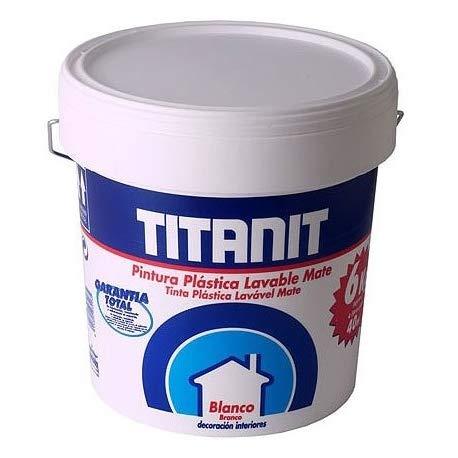 PINTURA PLASTICA INTERIOR TITANIT BLANCO MATE 15 L
