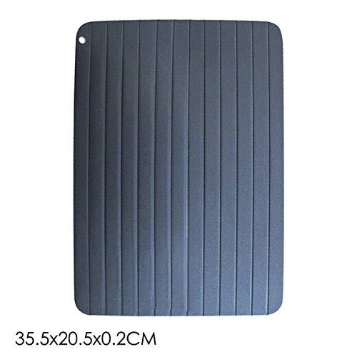 Josopa Schnelles Auftau-Tablett, Küchenzubehör Magic Plate Abtau-Tray Sicheres Auftauen von gefrorenem Fleisch-Abtauwerkzeug (Size : 35.5cm*20.5cm*0.2cm)