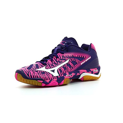 """'Mujer Zapatillas de balonmano Wave Mirage """", color VibrantOrange/Silver/Bla, tamaño 37"""