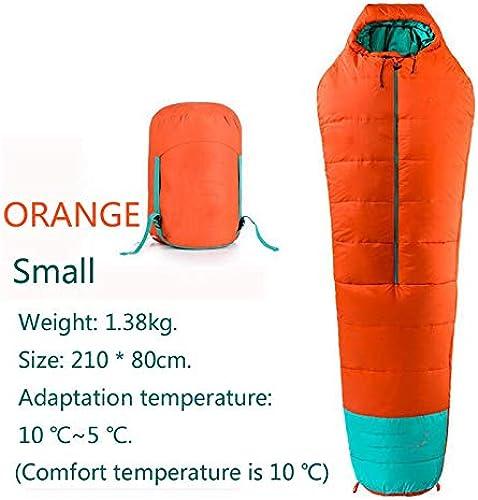 SOLVHK Sac de Couchage Sac de Couchage ultraléger Adulte Accessoires de Camping en Plein air 40D Sacs de Couchage en Coton Momie en Nylon imperméable Hiver