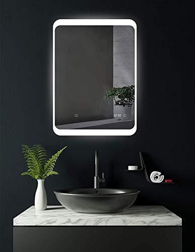 SOGOO® Nouvelle Génération L50 x H70cm 18W Lampe Miroir Salle de Bain LED Miroir Lumineux Salle de Bain LED Miroir Salle de Bain avec Éclairage Intégré LED Lumière Blanc Froid 6500K