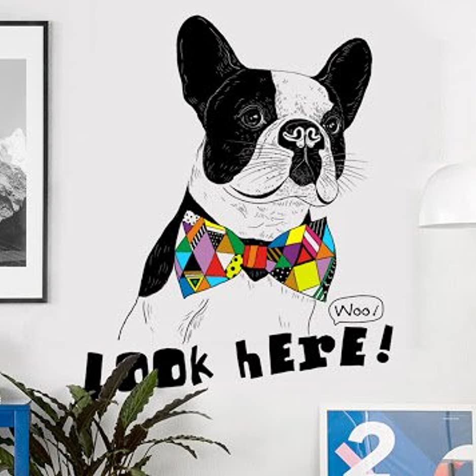リングレット楽しむ悲鳴不二玩家 ウォールステッカー 犬 フレンチ ブルドッグ 動物 北欧 ポスター ステッカー インテリア 子供部屋 幼稚園 子供 部屋 シール式ステッカー 飾り ウォールデコ ウォールペーパー ウォール 装飾 M0160