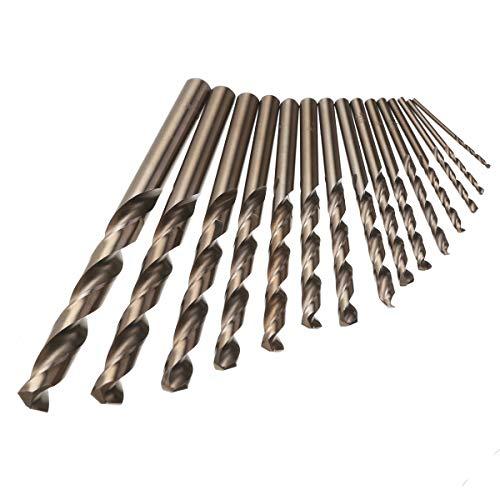 L-Yune, 15pcs for el Cobalto Fresa Espiral bit Cobalto metálico Perforar Herramientas for Trabajar la Madera Conjunto de perforación de energía definidas 1.5-10mm