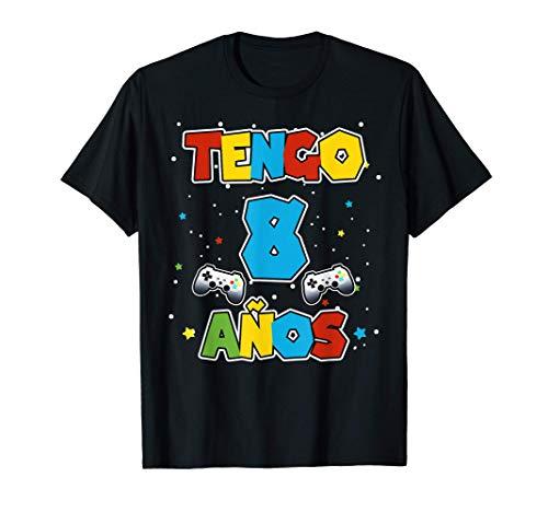 Tengo 8 años, Camiseta Cumpleaños para Niños Camiseta
