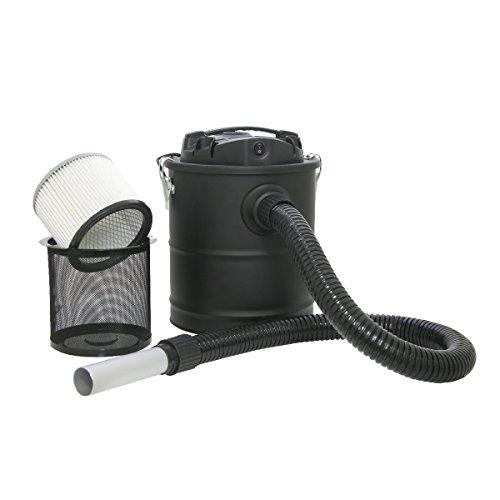 KaminoFlam Aschesauger Kamin - Aschestaubsauger mit Motor - Kaminsauger mit Metall Behälter, 15 l - Asche Staubsauger mit starkem Filter - 800 W