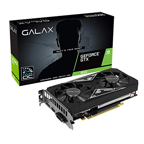 Placa de video galax geforce gtx 1650 ex plus 1click oc 4gb ddr6 128bits - 65sql8ds93e1