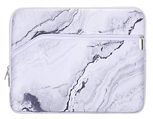 LuvCase Laptop Protective Sleeve Case Waterproof Neoprene Bag with Pocket Compatible MacBook Air A1932/ Pro 13-13.3' A2289/A2251/A2159/A1706/A1708/A1989 USB-C (2016-2020), Surface Pro 6(White Marble)