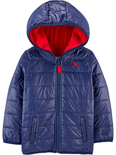Simple Joys by Carter's Puffer Jacket Chaqueta, Azul Marino, 4 años