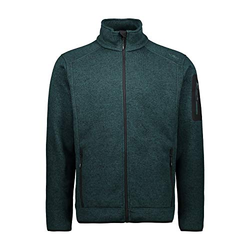 CMP Mens Knit Tech Polyester Fleece Knitted Jacket, Petrolio Mel-Petrolio, 3XL
