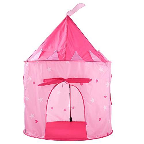 Sikungjlk Prinzessin Zelt Sternenspiel für Kinder Camping House Tent, pink, blau, mit Verpackungsbeutel für drinnen oder draußen & Spiel (Farbe : Rosa)