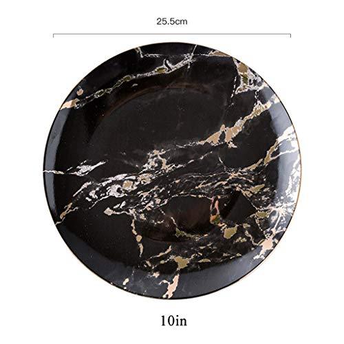 XXLCJ dessertborden keramiek ronde marmeren tide bewaardozen voedsel weergavedoos